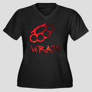 Wrath/Anger Women's Plus Size V-Neck Dark T-Shirt
