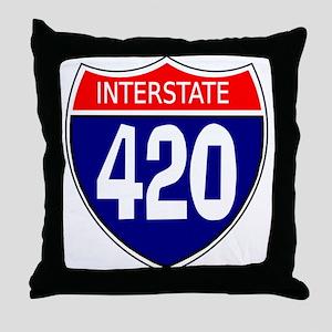 Interstate 420 Throw Pillow