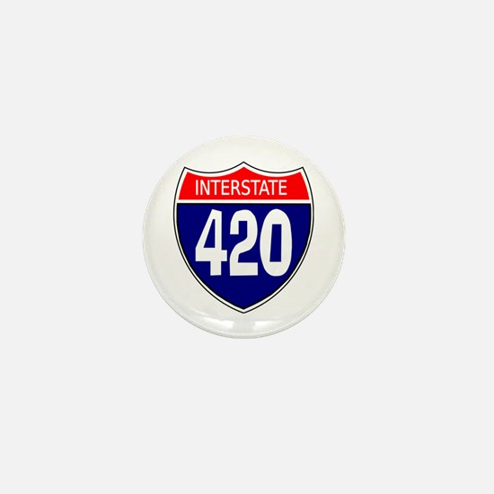 Interstate 420 Mini Button