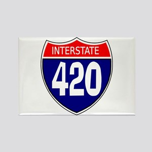 Interstate 420 Rectangle Magnet