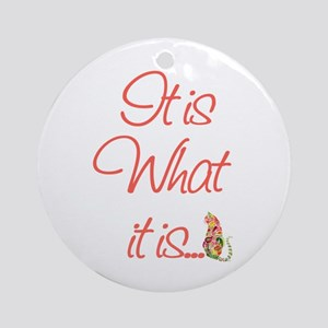 Cat Lovers It is what it is Ornament (Round)