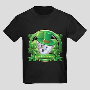 Happy St. Patrick's Day Schnoodle Kids Dark T-Shir