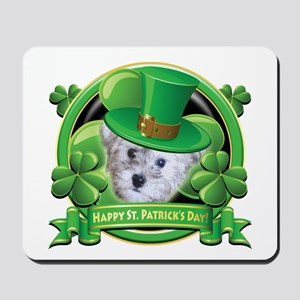 Happy St. Patrick's Day Schnoodle Mousepad