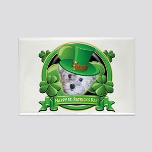 Happy St. Patrick's Day Schnoodle Rectangle Magnet
