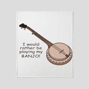 Banjo Design Throw Blanket