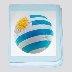 Uruguay World Cup Ball baby blanket
