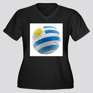 Uruguay World Cup Ball Women's Plus Size V-Neck Da