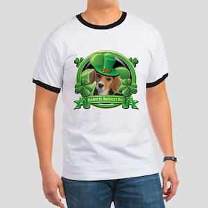 Happy St. Patrick's Day Beagle Ringer T