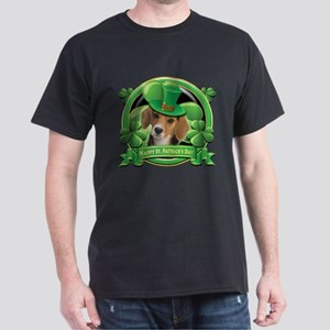 Happy St. Patrick's Day Beagle Dark T-Shirt