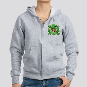Happy St. Patrick's Day Beagle Women's Zip Hoodie