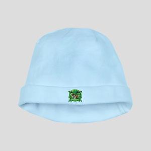 Happy St. Patrick's Day Beagle baby hat