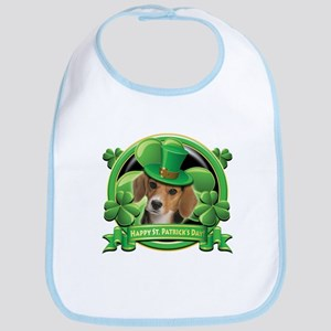 Happy St. Patrick's Day Beagle Bib