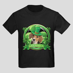 Happy St. Patrick's Day Beagle Kids Dark T-Shirt