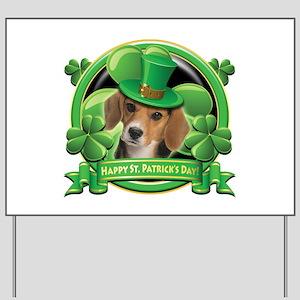 Happy St. Patrick's Day Beagle Yard Sign