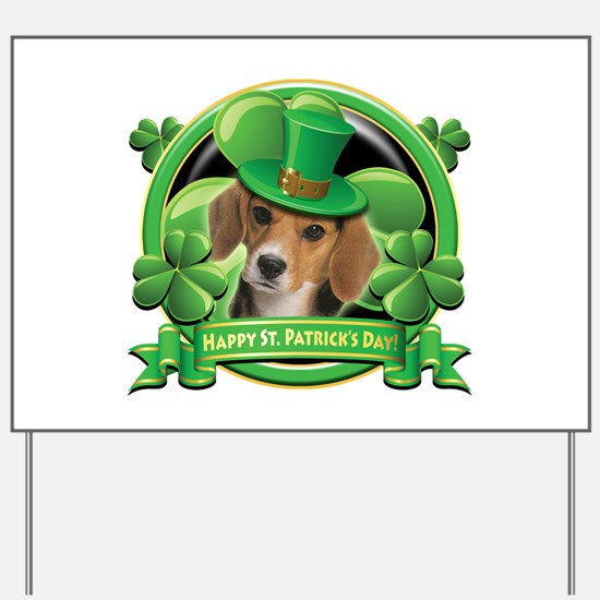 Happy St. Patrick's Day Beagle Yard Sign