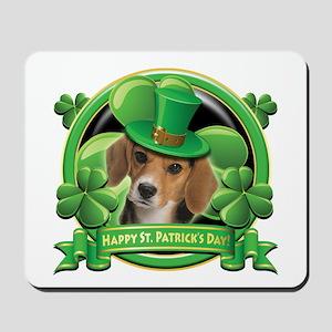Happy St. Patrick's Day Beagle Mousepad