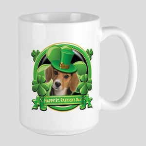 Happy St. Patrick's Day Beagle Large Mug