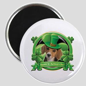 Happy St. Patrick's Day Beagle Magnet