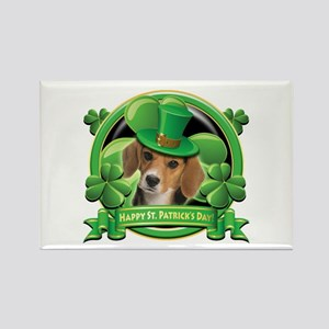 Happy St. Patrick's Day Beagle Rectangle Magnet