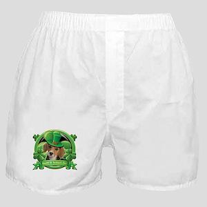 Happy St. Patrick's Day Beagle Boxer Shorts