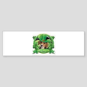 Happy St. Patrick's Day Beagle Sticker (Bumper)