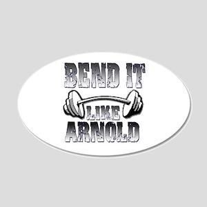 Bend it 22x14 Oval Wall Peel