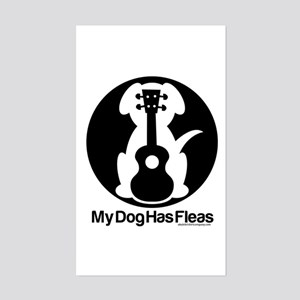 My Dog Has Fleas Ukulele Mugs Sticker (Rectangle)