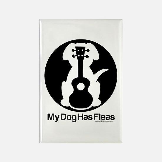 My Dog Has Fleas Ukulele Mugs Rectangle Magnet