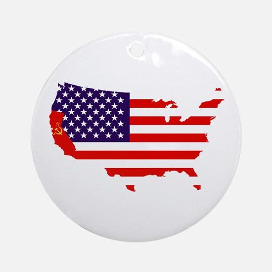 Communist California Ornament (Round)