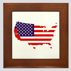 Communist California Framed Tile