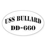 USS BULLARD Sticker (Oval)