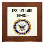 USS BULLARD Framed Tile