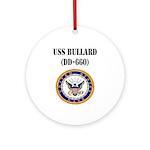 USS BULLARD Ornament (Round)