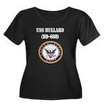 USS BULLARD Women's Plus Size Scoop Neck Dark T-Sh