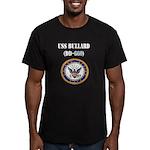 USS BULLARD Men's Fitted T-Shirt (dark)