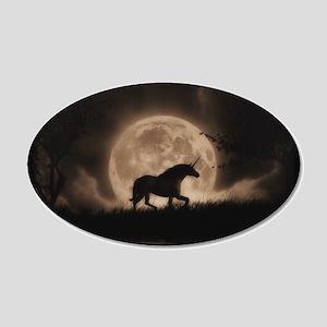 Unicorn Dreams 22x14 Oval Wall Peel