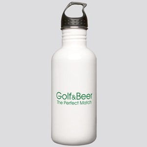 Golf and Beer A Perfect Match Stainless Water Bott