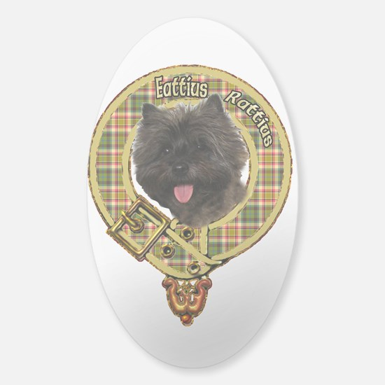 Cairn Terrier Crest Sticker (Oval)