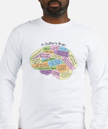 Quilter's Brain Long Sleeve T-Shirt