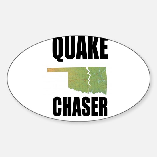 Official Earthquake Chaser Sticker (Oval)