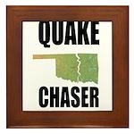 Official Earthquake Chaser Framed Tile