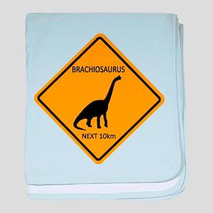 Brachiosaurus baby blanket