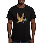 Golden Peace Men's Fitted T-Shirt (dark)
