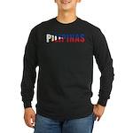 Philippines (Filipino) Long Sleeve Dark T-Shirt