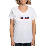 Philippines (Filipino) Women's V-Neck T-Shirt