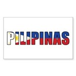 Philippines (Filipino) Sticker (Rectangle 10 pk)
