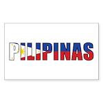 Philippines (Filipino) Sticker (Rectangle 50 pk)