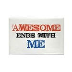 Awesome end with Me Rectangle Magnet (10 pack)