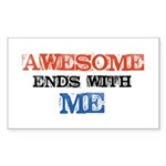 Awesome end with Me Sticker (Rectangle)