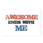 Awesome end with Me Postcards (Package of 8)